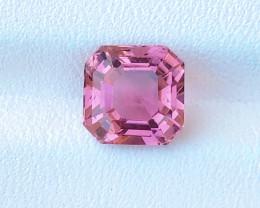 2.50 Ct Natural Pinkish Asscher Cut  Transparent Tourmaline Gemstone