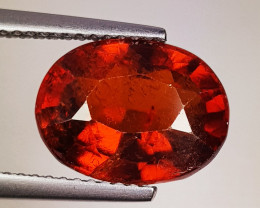 6.05 ct Top Quality Gem Oval Cut Top Luster Hessonite Garnet