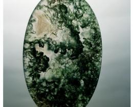 33.85 ct Natural Ocean Jasper Oval Cabochon  Gemstone