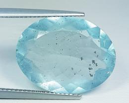 12.40 ct Top Grade Gem Excellent Oval Cut Natural Aquamarine