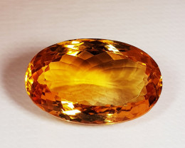 12.80 ct Top Quality Gem Golden Whisky Color Natural Citrine