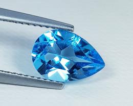 2.35 ct Top Quality Stunning Pear Cut Swiss Blue Topaz