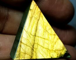 27.45 ct Natural Labradorite Sliced Fancy Cut Gemstone