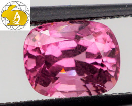 WOW! Cert. Unheated 1.32 CT INTENSE Pink Mahenge Spinel $450 FREE Shipping!