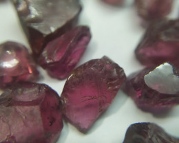 250Ct Natural Rhodolite Garnet Facet Rough Parcel
