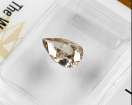 0.81ct Natural Fancy Yellow Brown Diamond GIA certified  pear