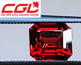 VVS! CGL GRS Cert. VIVID Deep Red Unheated Spinel (Namya, Burma) $2,625