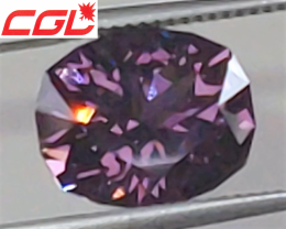 VVS! MASTER CUT! CGL-GRS Cert. 7.06 CT Violet Purple Spinel (Burma) $4,500