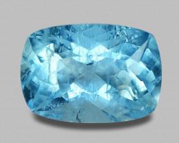 4.17 Carat Untreated Santa Maria Blue Color Natural Aquamarine Gemstone