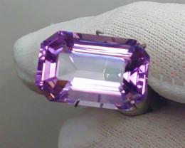 VVS! NEON! BRIGHT Purple 11.37 CT Amethyst (Uruguay) -  FREE Ship!