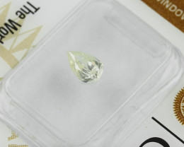 0.53ct Natural Fancy Light  Yellow Diamond GIA certified