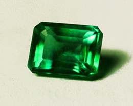 0.96 ct Gorgeous Zambian Emerald Certified Top Stone!