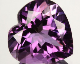 ~LOVELY~ 5.21 Cts Natural Purple Amethyst 12mm Heart Cut Bolivia