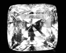 ~RARE~ 3.98 Cts Natural Sparkling Danburite 9x8mm Cushion Danbury-USA