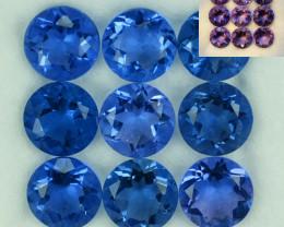 13.35Ct Natural Colour Change Fluorite  7mm Round Parcel