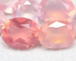 Rose Quartz 8.88Ct 7Pcs Natural Sakura Pink Rose Quartz 16AF447