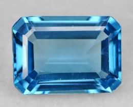 8.13 Carat Super Swiss Blue Color Natural Topaz Gemstones