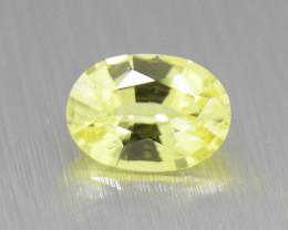 Ceylon Yellow Sapphire 0.94ct well-cut /great brilliance (01653)
