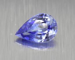 Ceylon Blue Sapphire 0.56ct pear well-cut (01659)