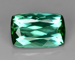 0.96 Carat No Treatment AAA Bluish Green Color Natural Tourmaline Gemstone