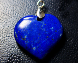 22.80 CT Unheated ~ Natural Blue  Color Lapis Carved Pendant Special Shape