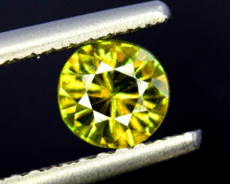 1.00 Carats Round Full Fire Sphene Titanite Gemstone From Pakistan