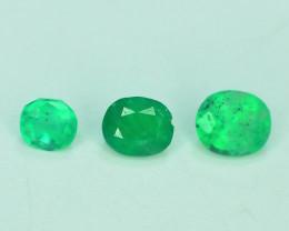 Top Color 0.68 ct Natural Emerald Lot~Panjshir Afghanistan