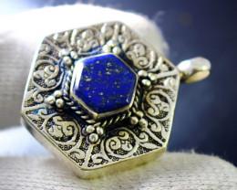 88.70 Cts Unheated & Natural ~Blue Lapis Lazuli Pendant