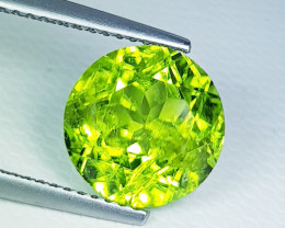3.81 ct  Top Quality  Round Cut Top Luster Natural Peridot