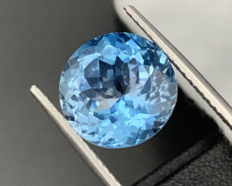 """""""NR""""10.10Cts Top Quality Natural Topaz Master Cut 13mm Round"""