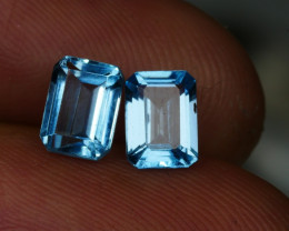 2.55CRT BEAUTY PAIR SKY BLUE TOPAZ-