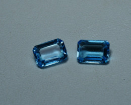 2.10CRT BEAUTY PAIR SKY BLUE TOPAZ-