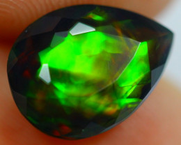 2.52cts Natural Ethiopian Smoked Faceted Black Opal / AK273