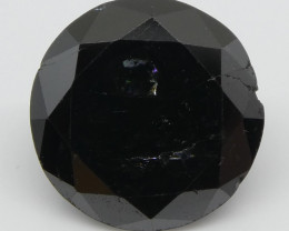 1.76ct Black Diamond Round - $1 NR Auction