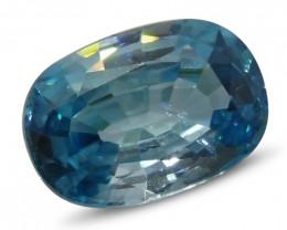 4.02ct Blue Zircon Oval