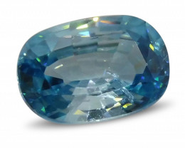 4.07ct Blue Zircon Oval
