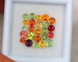 3.28Ct Fancy Color Sapphire Round Cut Lot LZ3303