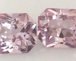 Pretty Soft Pink Spinel Pair - Burma   Ref 2265