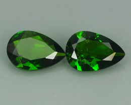 2.90 Cts MARVELOUS RARE PEAR NATURAL TOP GREEN- CHROME DIOPSIDE DAZZL