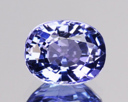 1.00 Cts Natural Purplish Blue Tanzanite Oval Cut Tanzania