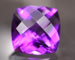 Amethyst 3.79Ct Natural Uruguay VVS Electric Purple Amethyst 17AF622
