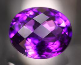 Amethyst 4.68Ct Natural Uruguay VVS Electric Purple Amethyst 17AF623
