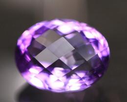 Amethyst 4.88Ct Natural Uruguay VVS Electric Purple Amethyst 17AF625