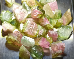 97.2 CT Bi-colour tourmaline watermelon