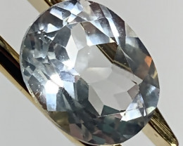 4.61ct Silver White Topaz - Sparkling  gem VVS