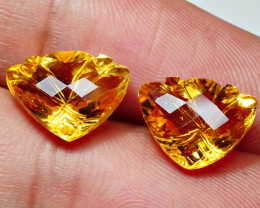 8.05CRT AMAZING CARVING CUT CITRINE-