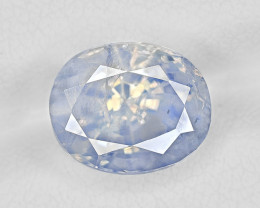 Blue Sapphire, 5.36ct - Mined in Kashmir | Certified by GRS