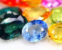 Fancy Sapphire 3.19Ct 15Pcs Natural Multi Fancy Sapphire Lot 17AF746