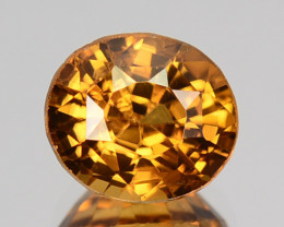 2.44 Cts Natural Sparkling Zircon Imperial Color Oval Tanzania