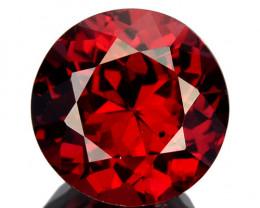 1.68 Cts Natural Pinkish Red Rhodolite Garnet Round Cut Mozambique